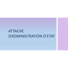 Attaché d'Administration de l'Etat