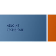 Adjoint technique
