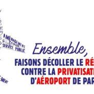 Contre la privatisation d'Aéroports de Paris, gagnons le referendum !