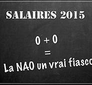 Salaires 2015 : 0 + 0 = NAO, un vrai fiasco