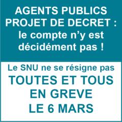 Projet de décret agents public : le compte n'y est toujours pas !