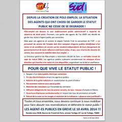 Grève des agent-es publics en Ile de France